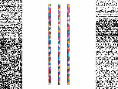 Rainbow Birthday Paper Straws with Metallic Print 24pcs