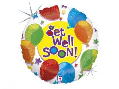Get Well Soon Foil Μπαλόνι με Πολύχρωμα Μπαλόνια (46εκ)