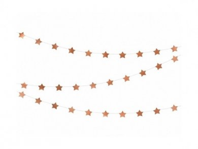 Garland with Rose Gold Little Stars 3m