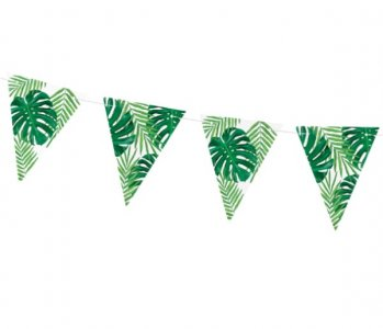Tropical Leaves Flag Bunting (1,3m)