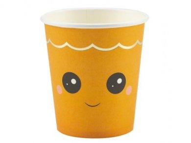 Sweet Pumpkin Paper Cups (8pcs)