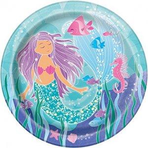 Mermaid Large Paper Plates (8pcs)