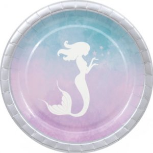 Mermaid In The Sea Paper Plates (8pcs)