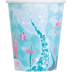 Mermaid Paper cups (8pcs)