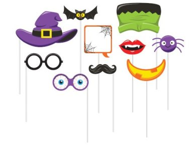 Halloween Photo Booth Props (10pcs)