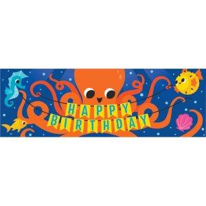 Μεγάλη Αφίσα για Γενέθλια με θέμα Ωκεανός (50,8εκ x 152εκ)