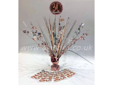 Happy Birthday Rose Gold Table Centerpiece