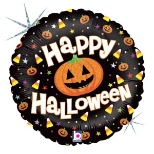 Happy Halloween Ολογραφικό Τύπωμα Foil Μπαλόνι (46εκ)
