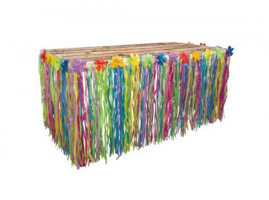 Hawaian Tropical Colorful Table Skirt (75cm x 300cm)