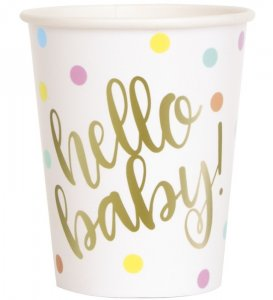 Hello Baby Paper Cups (8pcs)