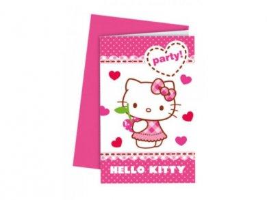 Hello Kitty Party Invitations 6pcs