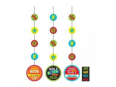 Colorful Holy Bleep Hanging Decorations 3pcs