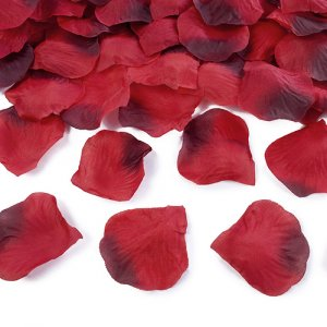 Red Fabric Rose Petals (80pcs)