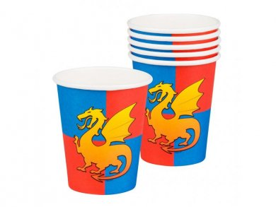 Knights Paper Cups (6pcs)