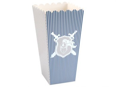 Silver Foiled Knight Pop Corn Boxes (8pcs)