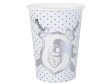 Silver Foiled Knight Paper Cups (10pcs)