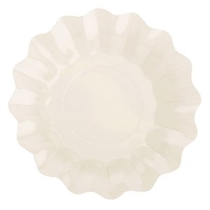 Ivory Large Paper Plates (B.Eco) Color Theme Party Supplies