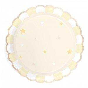 Ivory Pattern Paper Plates (8pcs)