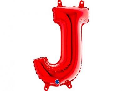 J Μπαλόνι Γράμμα Κόκκινο (35εκ)