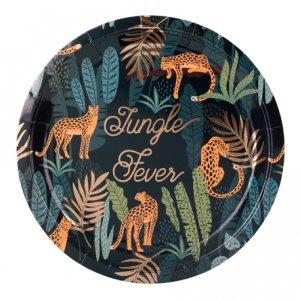 Jungle Fever Gold Foiled Paper Plates (8pcs)