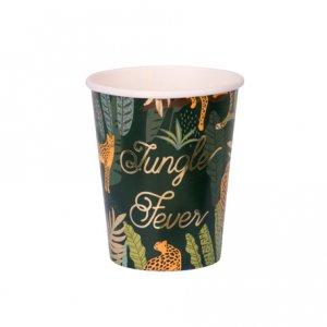 Jungle Fever Gold Foiled Paper Cups (8pcs)