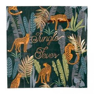 Jungle Fever Gold Foiled Luncheon Napkins (16pcs)