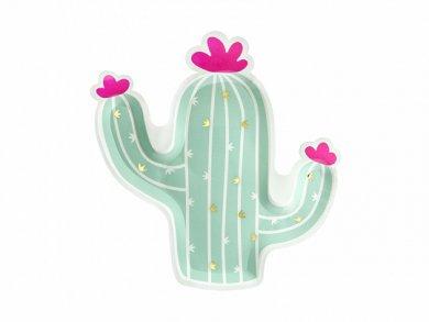 Cactus Shaped Paper Plates (6pcs)