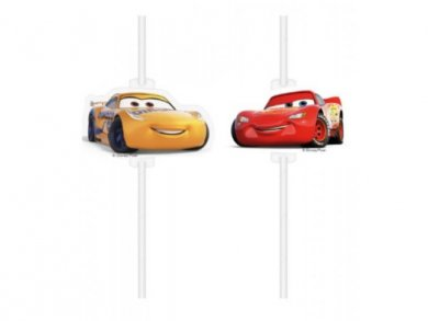 Cars Paper Straws (4pcs)