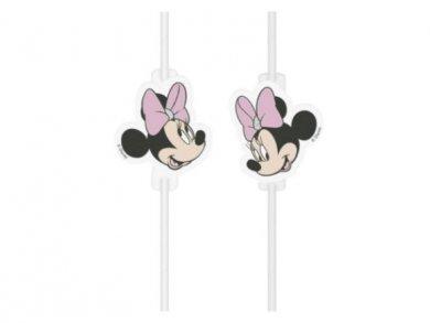 Pink Minnie Paper Straws (4pcs)