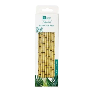 Tropical Paper Straws (30pcs)