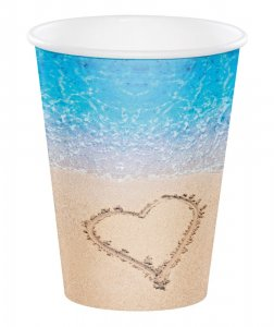 Beach Love Paper Cups (8pcs)