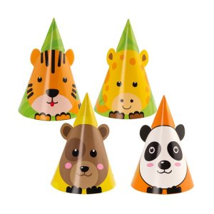 Party Hats Smiling Animals (6pcs)