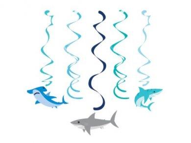 Shark Swirl Decorations (5pcs)