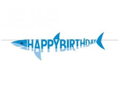 Καρχαρίας Γιρλάντα για Γενέθλια Happy Birthday (1,7μ)