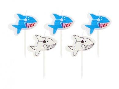 Καρχαρίας Κεράκια για Τούρτα (5τμχ)