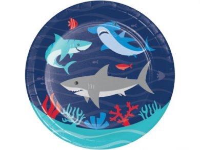 Καρχαρίας Μικρά Χάρτινα Πιάτα (8τμχ)