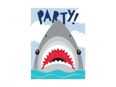 Καρχαρίας Προσκλήσεις για Πάρτυ (8τμχ)