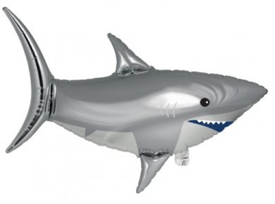 Grey Shark Supershape Foil Balloon (93,9cm x 72cm)