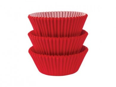 Red Cupcake Cases 75pcs