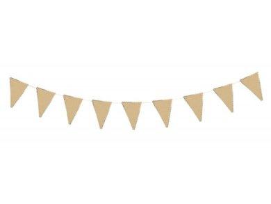 Κραφτ με Χρυσοτυπία Γιρλάντα Σημαιάκια (3μ)