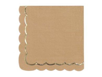 Κραφτ με Χρυσοτυπία Χαρτοπετσέτες (16τμχ)