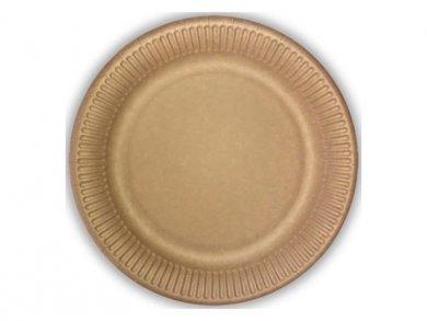 Κραφτ Μεγάλα Χάρτινα Πιάτα 10τμχ