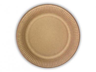 Κραφτ Μικρά Χάρτινα Πιάτα 10τμχ