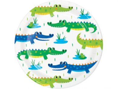 Alligator Party Small Paper Plates (8pcs)