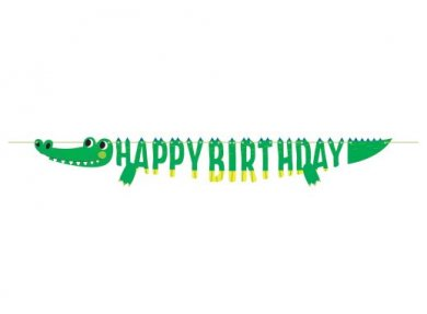 Alligator Party Happy Birthday Garland (184cm)