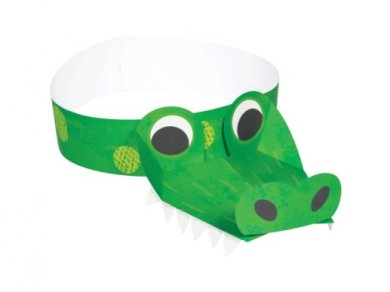 Alligator Party Hats (8pcs)