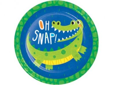 Alligator Party Large Paper Plates (8pcs)