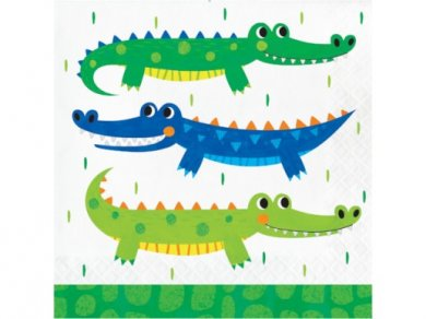 Alligator Party Luncheon Napkins (16pcs)