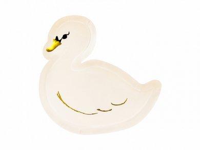 Swan Shaped Paper Plates (6pcs)