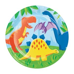 Large Paper Plates Dinosaurs Friends (8pcs)